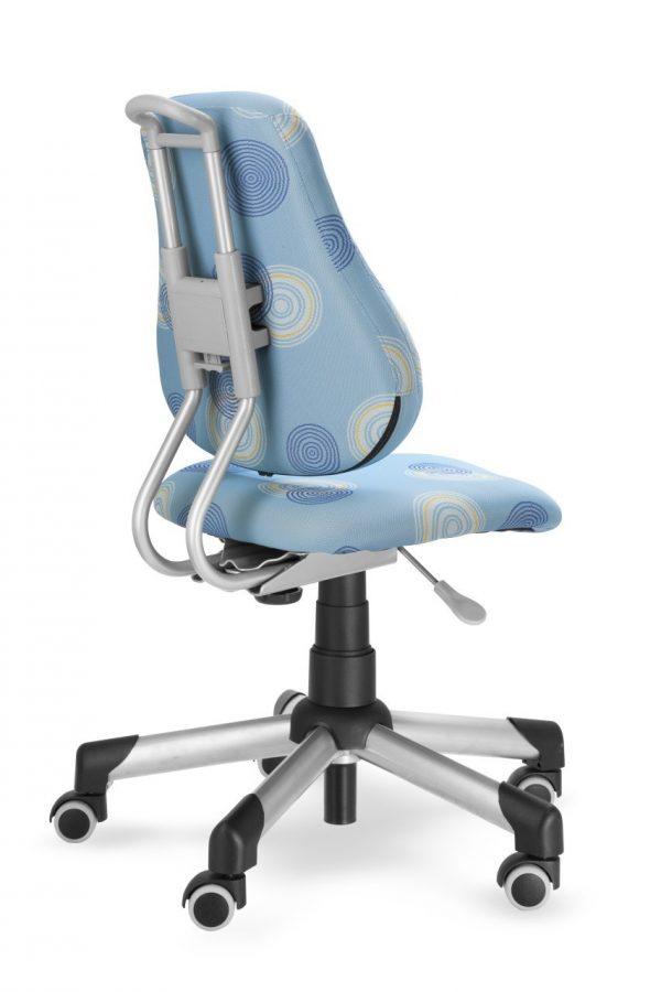 Rostoucí židle Mayer Actikid modrá s kruhy zadní pohled