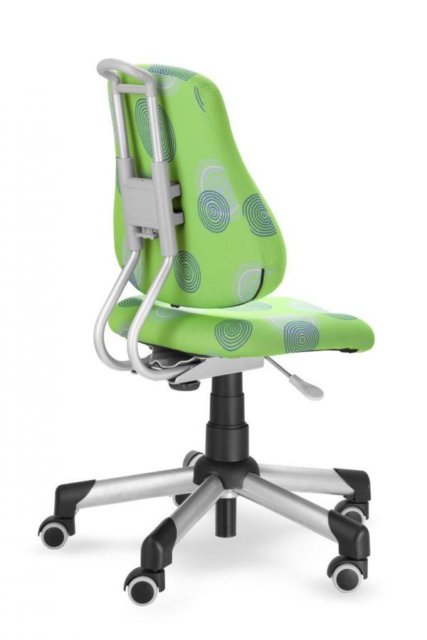 Rostoucí židle Mayer Actikid zelená s kruhy zadní pohled