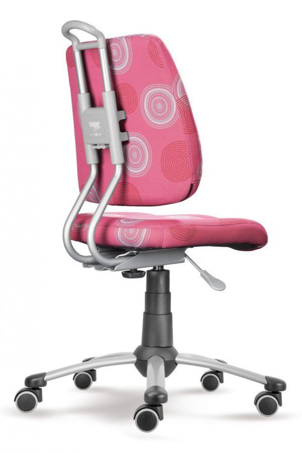 Rostoucí židle Actikid A3 Smile růžová s kruhy