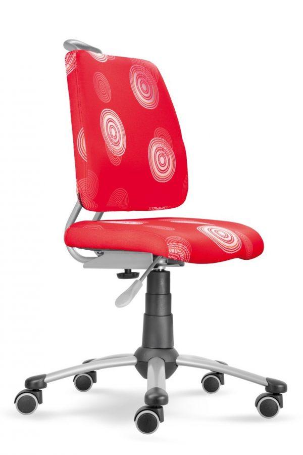 Rostoucí židle Actikid A3 Smile červená s kruhy