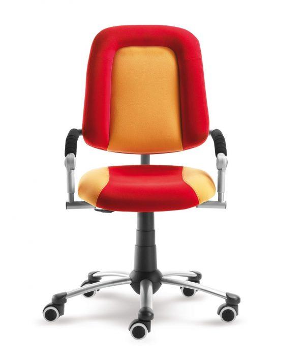 Rostoucí židle Freaky Sport aquaclean červená / žlutá přední pohled