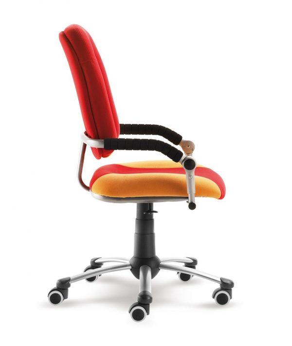 Rostoucí židle Freaky Sport aquaclean červená / žlutá boční pohled