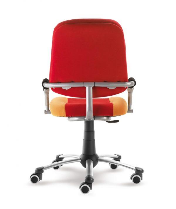 Rostoucí židle Freaky Sport aquaclean červená / žlutá zadní pohled