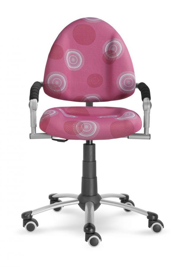 Rostoucí židle Mayer Freaky růžová s kruhy ze předu