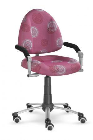 Rostoucí židle Mayer Freaky růžová s kruhy