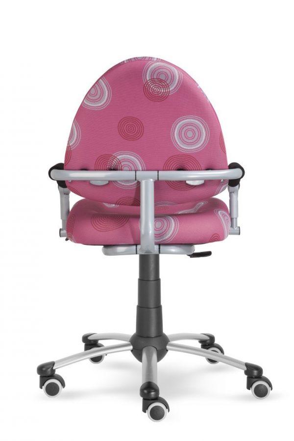 Rostoucí židle Mayer Freaky růžová s kruhy zadní pohled