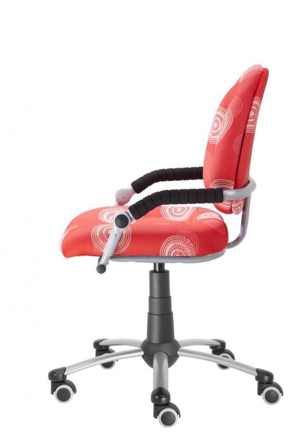 Rostoucí židle Mayer Freaky červená s kruhy boční pohled