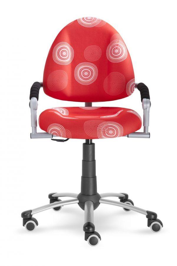Rostoucí židle Mayer Freaky červená s kruhy ze předu