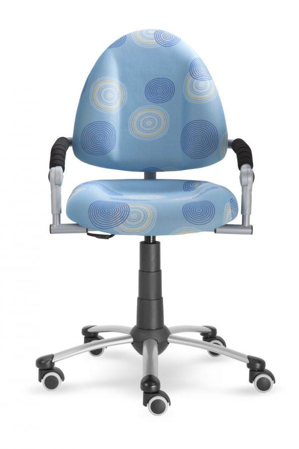 Rostoucí židle Mayer Freaky modrá s kruhy přední pohled