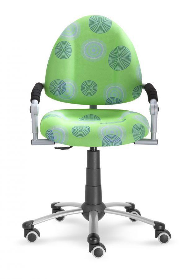 Rostoucí židle Mayer Freaky zelená s kruhy přední pohled