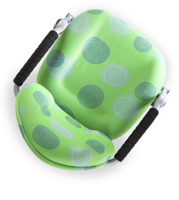 Rostoucí židle Mayer Freaky zelená s kruhy horní pohled