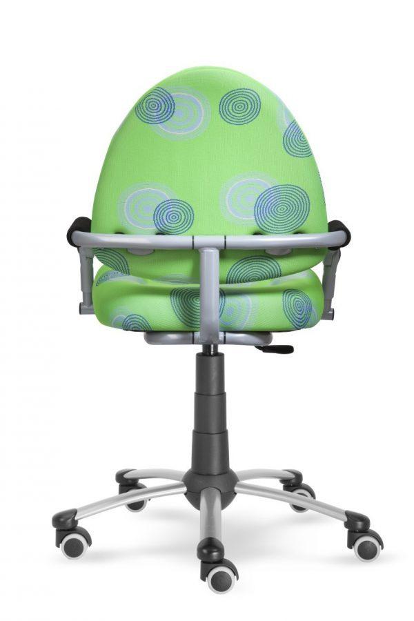Rostoucí židle Mayer Freaky zelená s kruhy zadní pohled