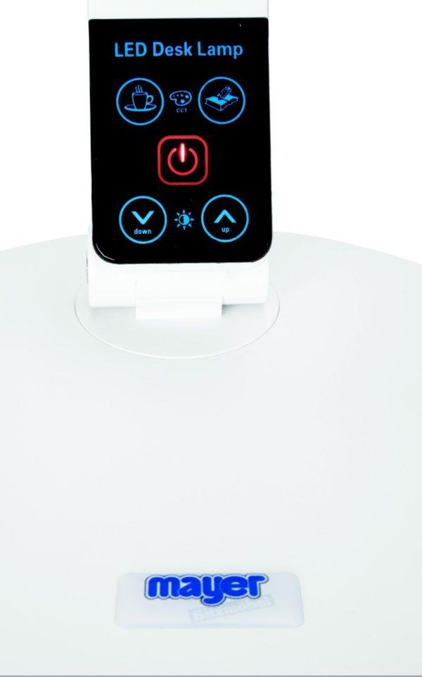 Bílá stolní LED lampa Mayer - ovládání