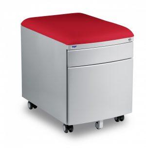 Kontejner Mayer šedý s potahem červený aquaclean