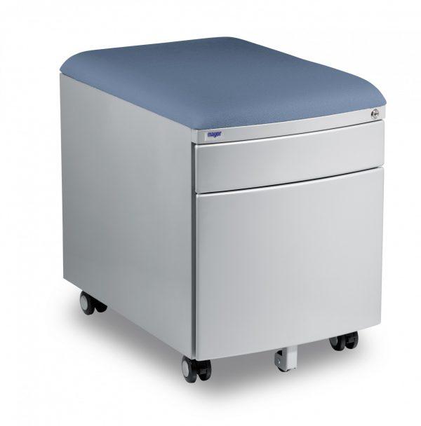 Kontejner Mayer šedý s potahem modrošedý aquaclean