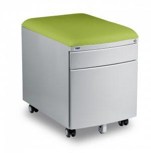 Kontejner Mayer šedý s potahem zelený aquaclean