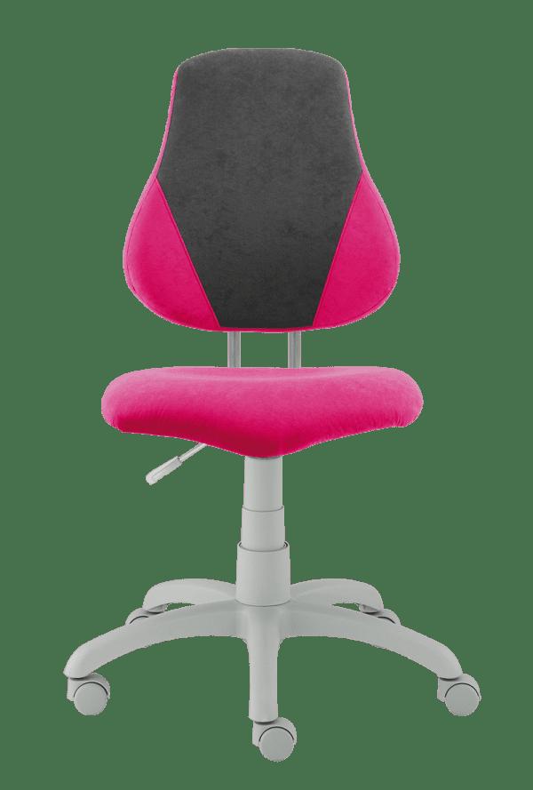Dětská rostoucí židle Fuxo V-Line růžová / šedá
