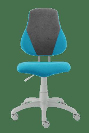Dětská rostoucí židle Fuxo V-Line světle modrá / šedá