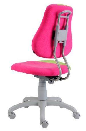 Rostoucí židle Fuxo S-Line růžová / jasně zelená zadní pohled