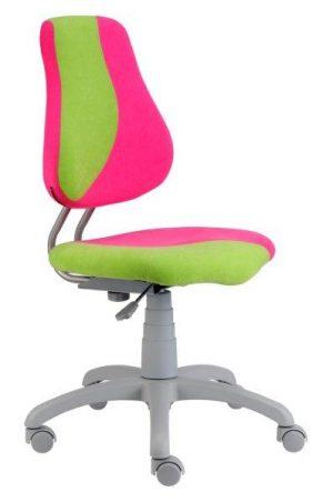 Rostoucí židle Fuxo S-Line růžová / jasně zelená