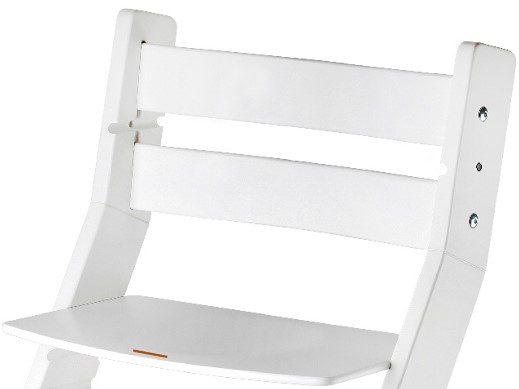 Rostoucí židle Sandy - bílá / bílá