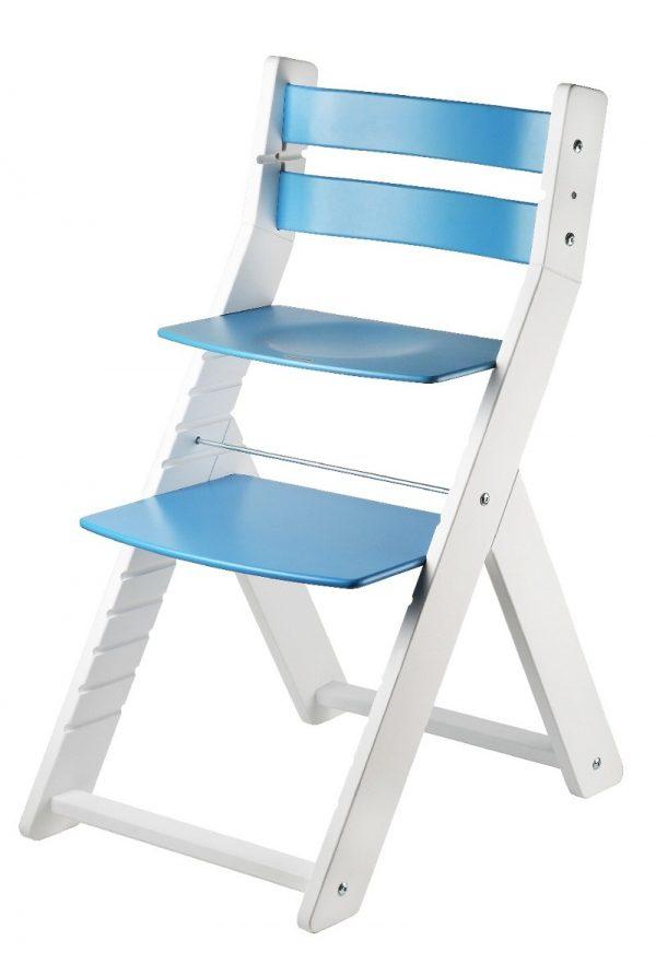 Rostoucí židle Sandy - bílá / modrá