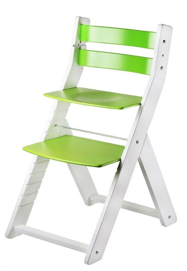 Rostoucí židle Sandy - bílá / zelená