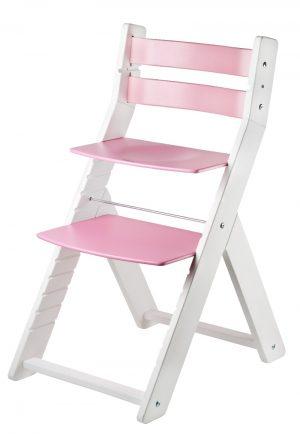 Rostoucí židle Sandy - bílá / růžová