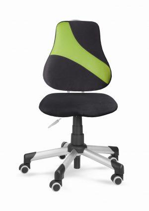 Židle pro školáky Actikid A2 M1 - černý aquaclean + zelená síťovina