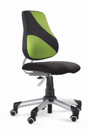 Rostoucí židle Actikid A2 M2 - černý aquaclean + zelená síťovina