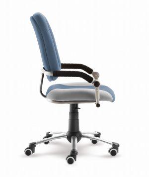 Rostoucí židle Freaky Sport modrošedá / šedá z boku
