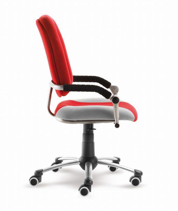 Rostoucí židle Freaky Sport červená / šedá z boku