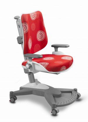 Rostoucí židle Mayer MyChamp červená s kruhy