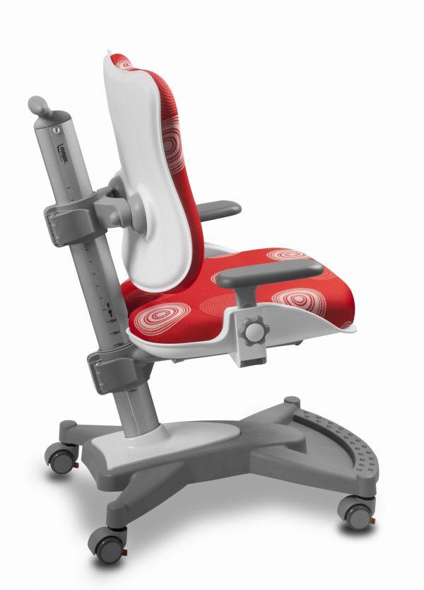 Židle pro školáky Mayer MyChamp červená s kruhy
