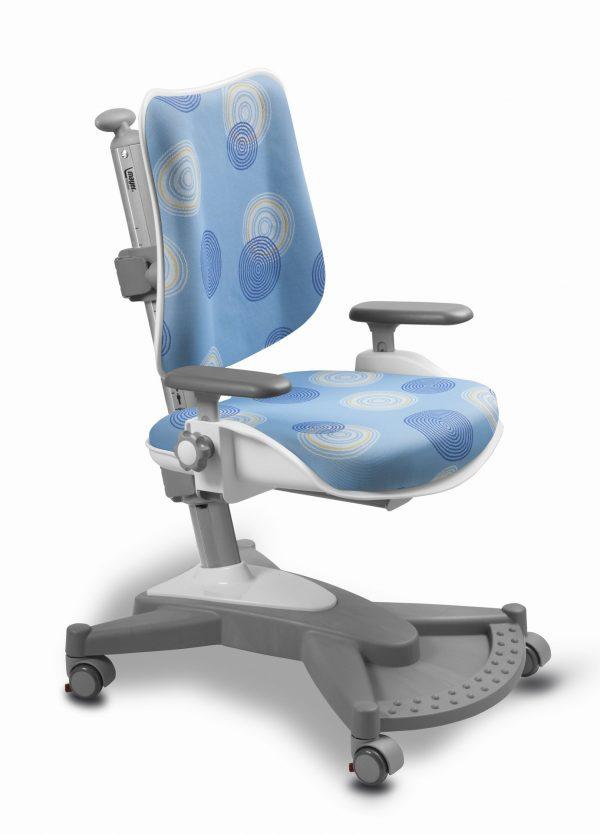 Rostoucí židle Mayer MyChamp modrá s kruhy