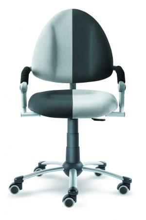 Židle pro školáka Freaky aquaclean antracit / šedá