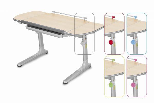 Rostoucí stůl Mayer Profi 3 5v1 javor, šedá podnož