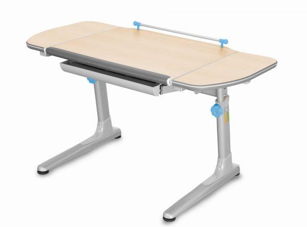 Rostoucí stůl Mayer Profi 3 5v1 javor, šedá podnož - modré prvky