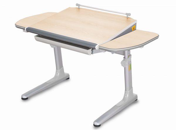Rostoucí stůl Mayer Profi 3 5v1 javor, šedá podnož - šedé prvky