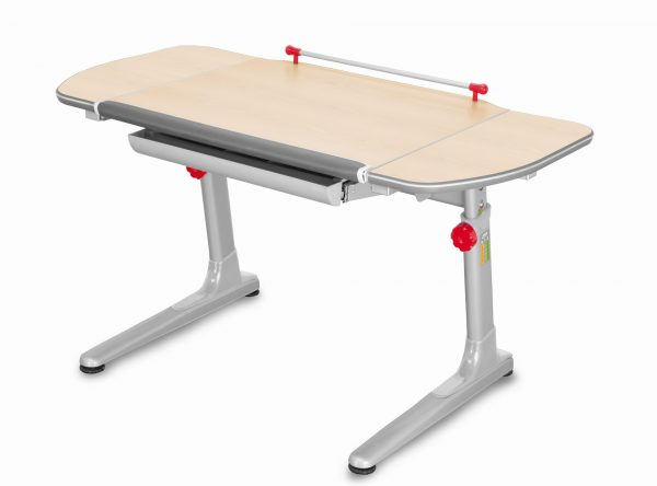 Rostoucí stůl Mayer Profi 3 5v1 javor, šedá podnož - červené prvky