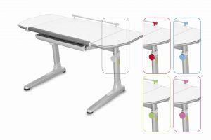 Rostoucí stůl Mayer Profi 3 5v1 bílý, šedá podnož