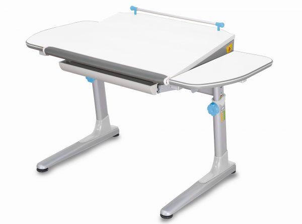 Rostoucí stůl Mayer Profi 3 5v1 bílý, šedá podnož - modré prvky