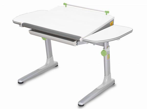 Rostoucí stůl Mayer Profi 3 5v1 bílý, šedá podnož - zelené prvky