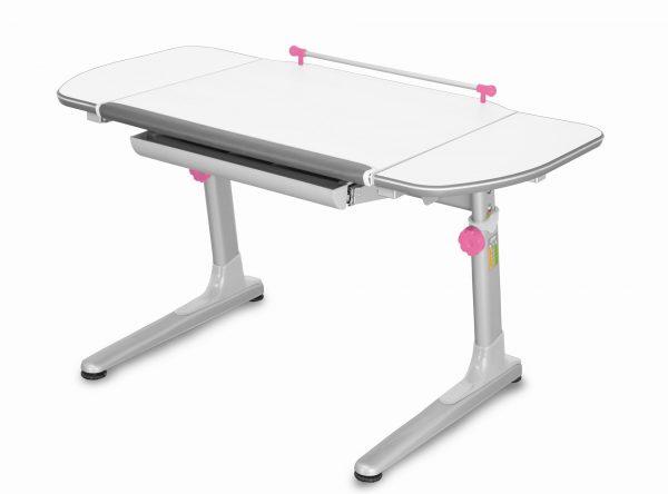 Rostoucí stůl Mayer Profi 3 5v1 bílý, šedá podnož - růžové prvky