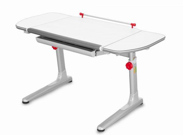 Rostoucí stůl Mayer Profi 3 5v1 bílý, šedá podnož - červené prvky