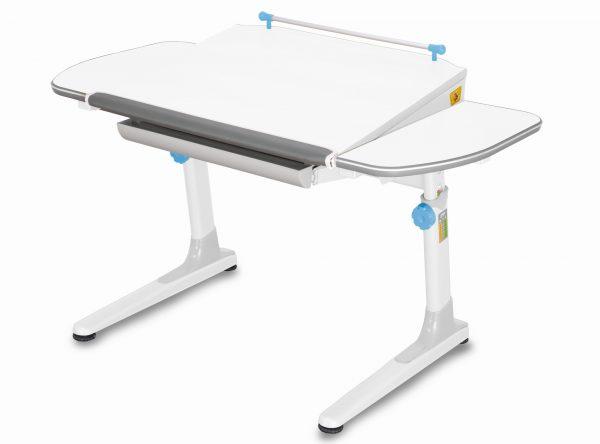 Rostoucí stůl Mayer Profi 3 5v1 bílý, bílá podnož - modré prvky