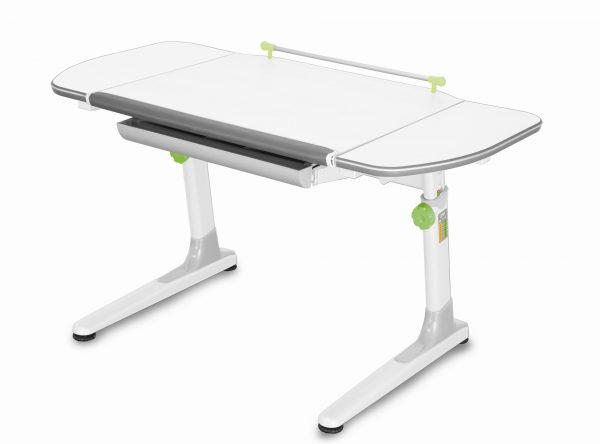 Rostoucí stůl Mayer Profi 3 5v1 bílý, bílá podnož - zelené prvky