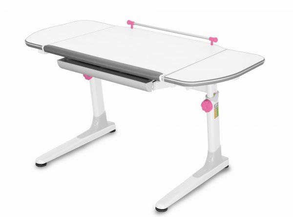 Rostoucí stůl Mayer Profi 3 5v1 bílý, bílá podnož - růžové prvky