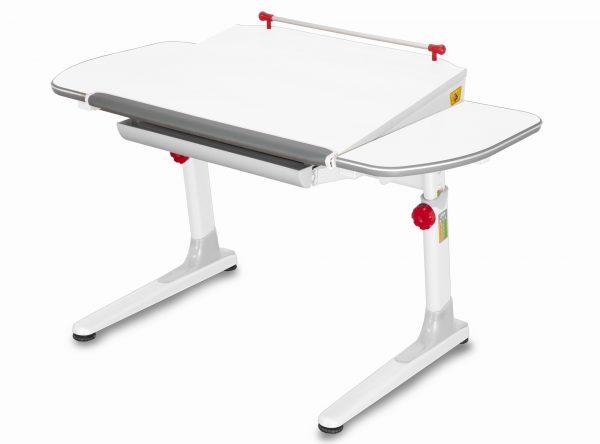 Rostoucí stůl Mayer Profi 3 5v1 bílý, bílá podnož - červené prvky