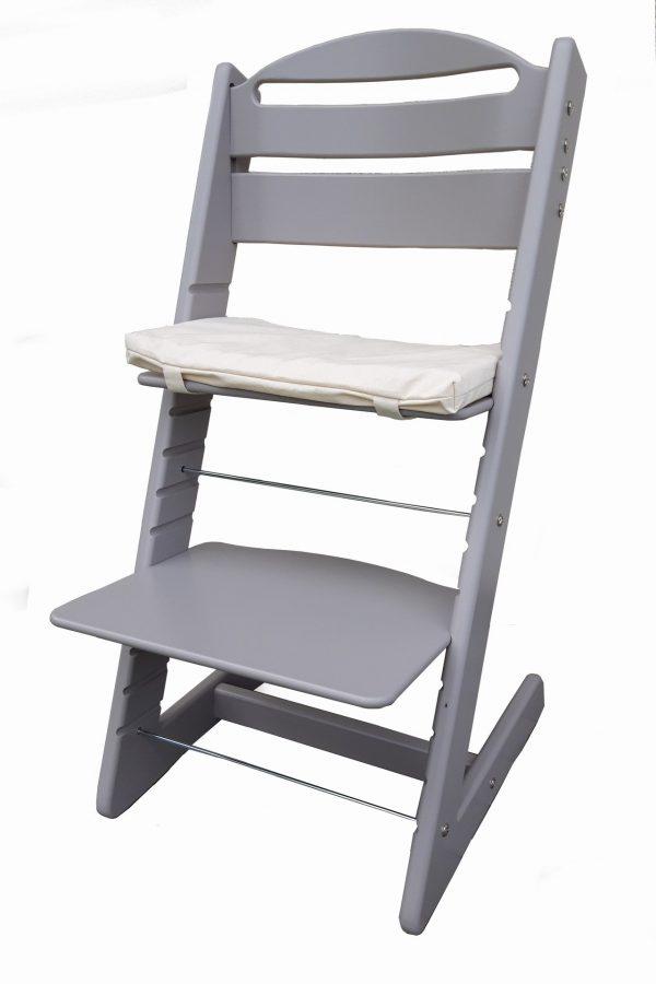 Rostoucí židle Jitro Baby šedá